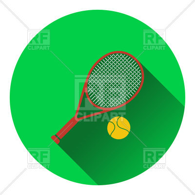 400x400 Icon Of Tennis Rocket And Ball Royalty Free Vector Clip Art Image