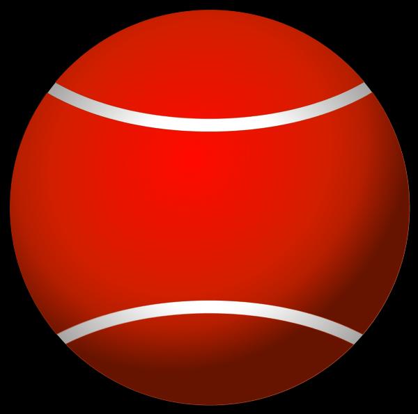 600x595 Red Tennis Ball Clipart