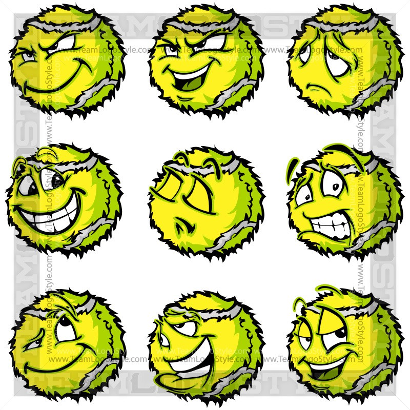 800x800 Sad Tennis Ball Clip Art