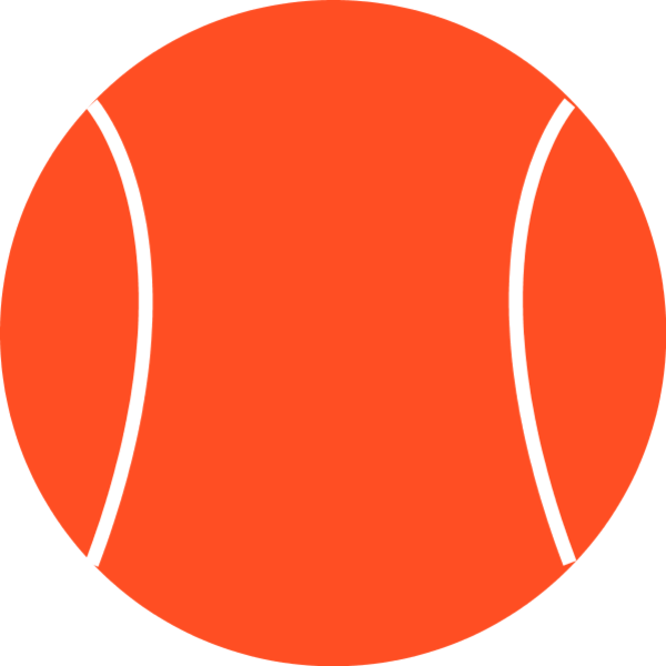 600x600 Tennis Ball Clip Art