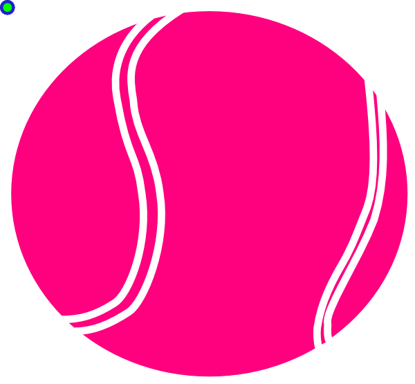 600x555 Bright Pink Tennis Ball Clip Art