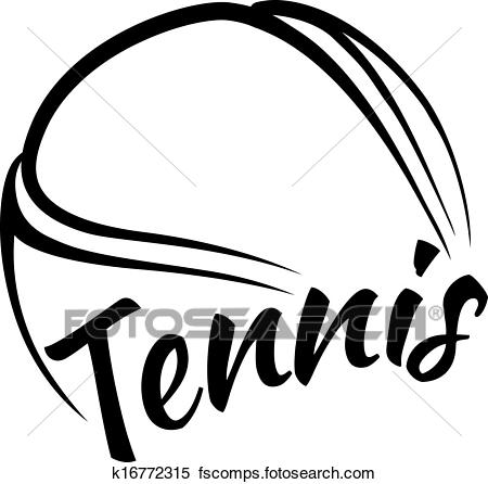 450x446 Clipart Of Tennis Ball With Fun Text K16772315