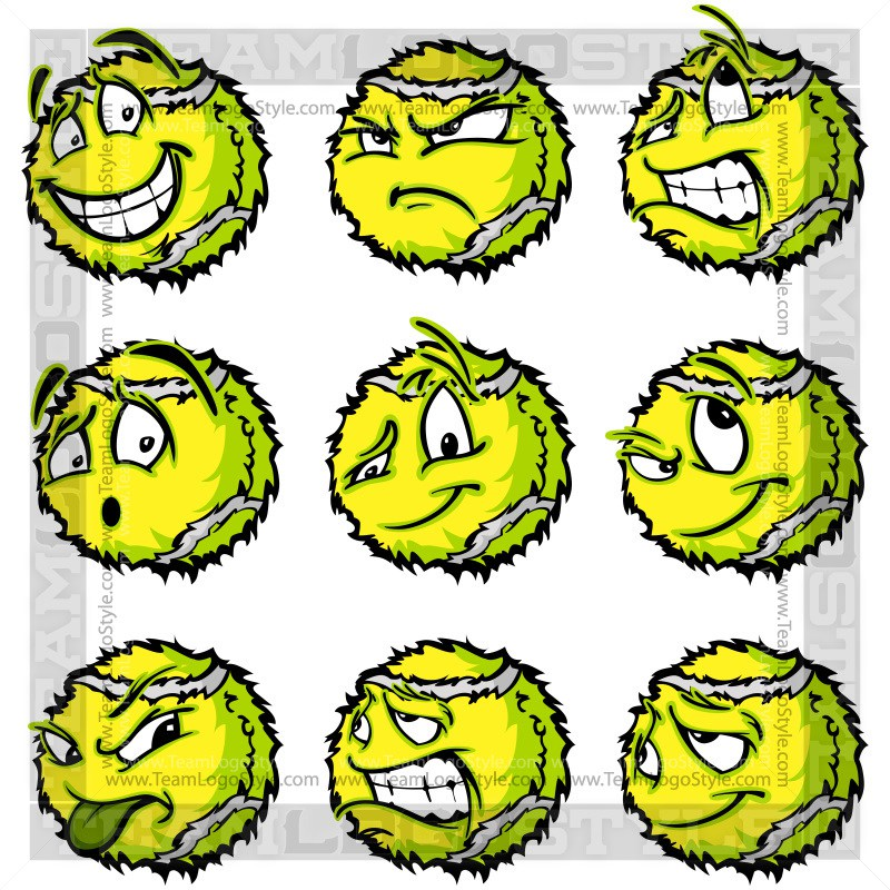 800x800 Happy Tennis Ball