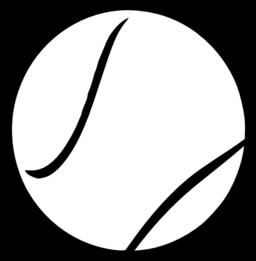 256x261 Tennis Ball Outline Clipart Panda