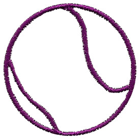 275x275 Tennis Ball Outline 1 Embroidery Design By Sea Blossom Design