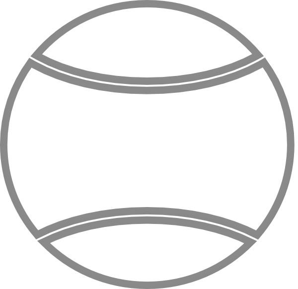 600x582 Tennis Ball Outline Clip Art
