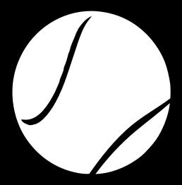 258x262 Tennis Ball Clipart Black And White