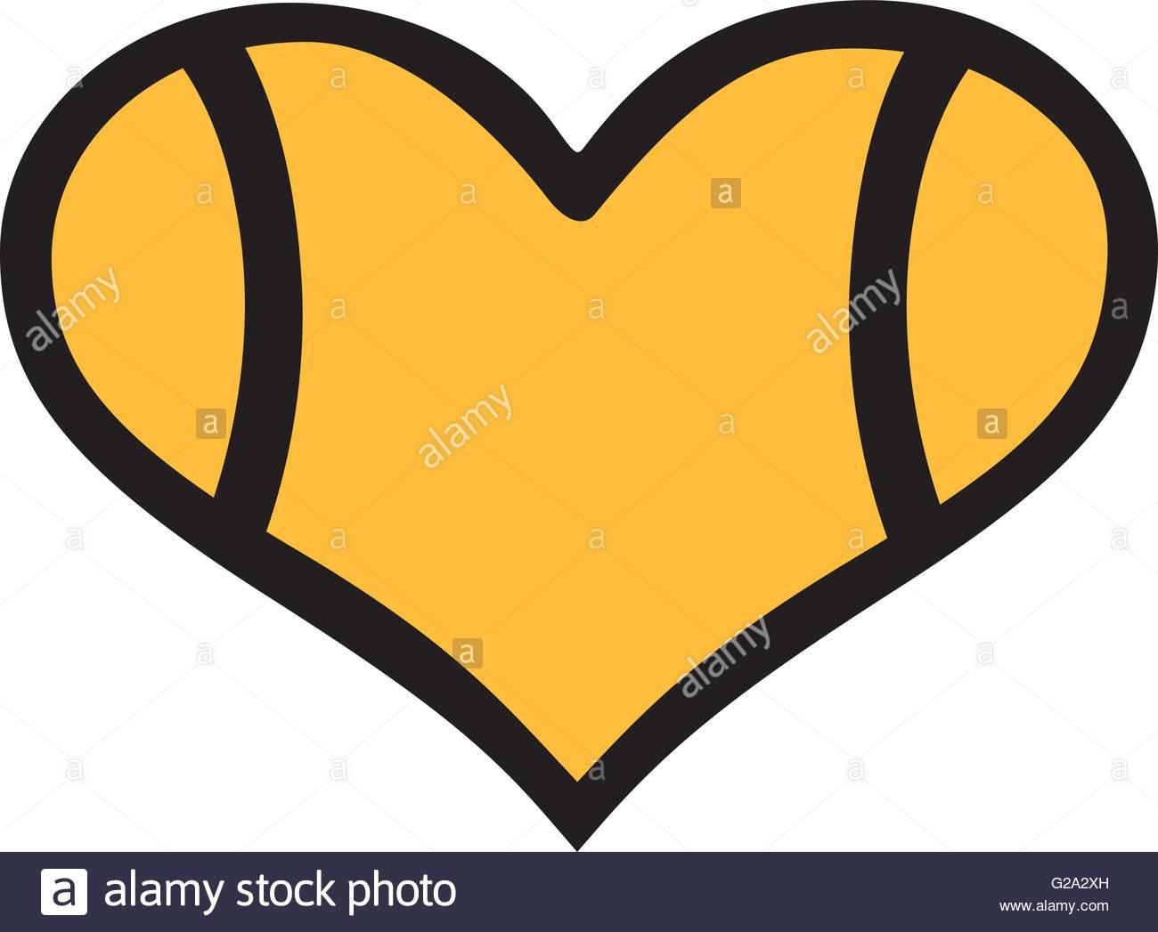 1300x1047 Tennis Ball Heart Stock Vector Art Amp Illustration, Vector Image
