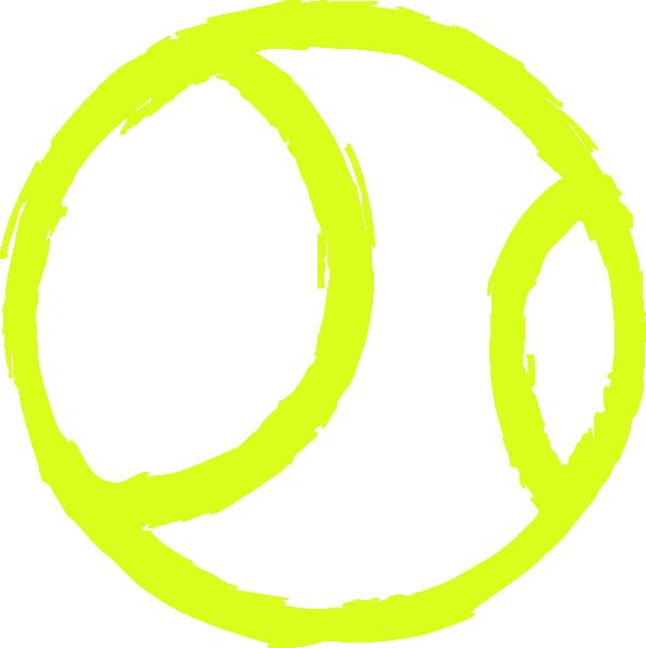 594x596 Green Outline Tennis Ball Clipart