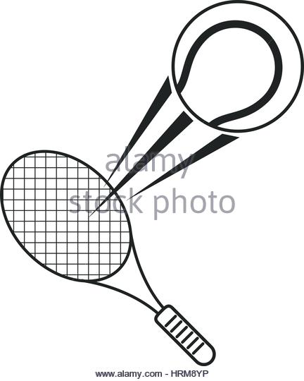 432x540 Ping Pong Racket Ball Outline Stock Photos Amp Ping Pong Racket Ball