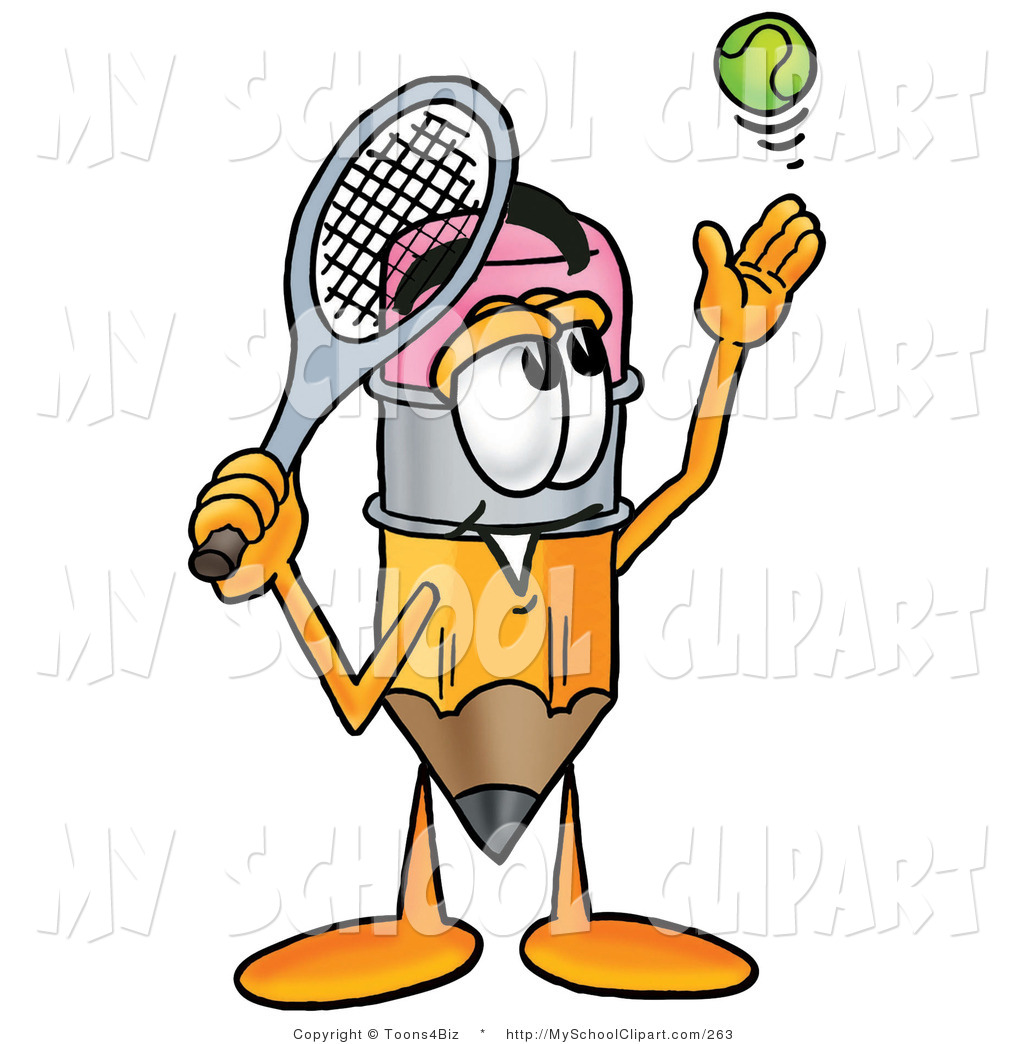 1024x1044 Clip Art Of A Sporty Pencil Mascot Cartoon Character Preparing