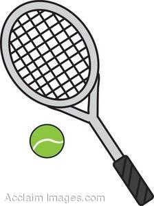 224x300 Clip Art Of A Tennis Racket And Ball