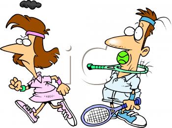 350x262 Funny Tennis Clip Art