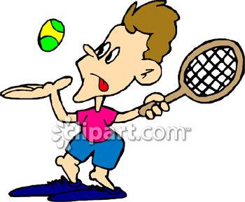 350x289 Man Playing Tennis