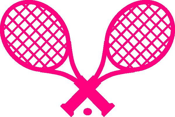 600x403 Pink Tennis Racquet Clip Art