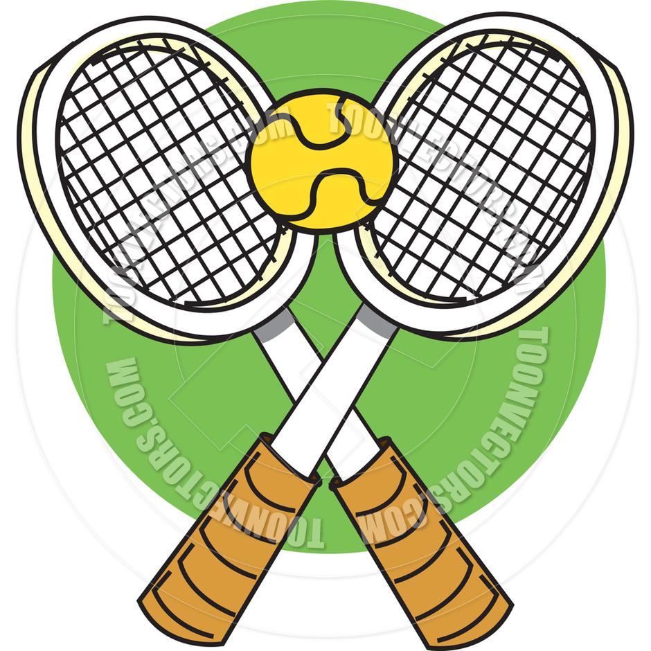 940x940 Cartoon Tennis Rackets Vector Illustration By Clip Art Guy Toon