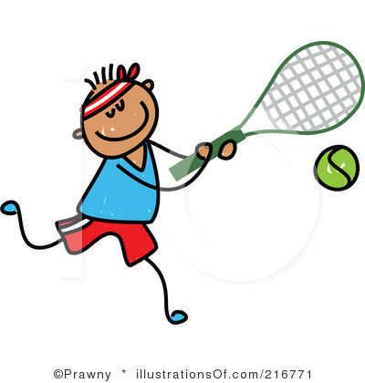 400x420 RF) Tennis Clipart sport related cards Tennis