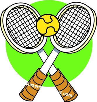 332x350 Tennis Racket Clipart
