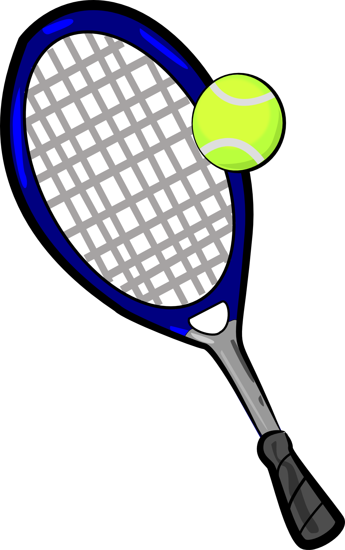 1129x1801 Tennis ball and racket clip art clipart