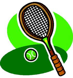 282x300 Tennis tennis racket and ball clip art