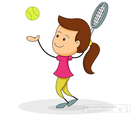 550x478 Free Girl Tennis Clipart Image