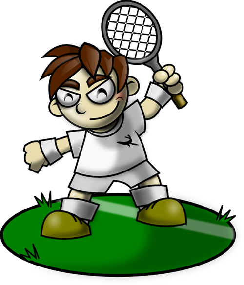 500x585 Free Tennis Player Clip Art