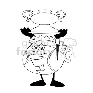 Tennis Clipart Black And White