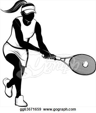 314x370 Female Tennis Player
