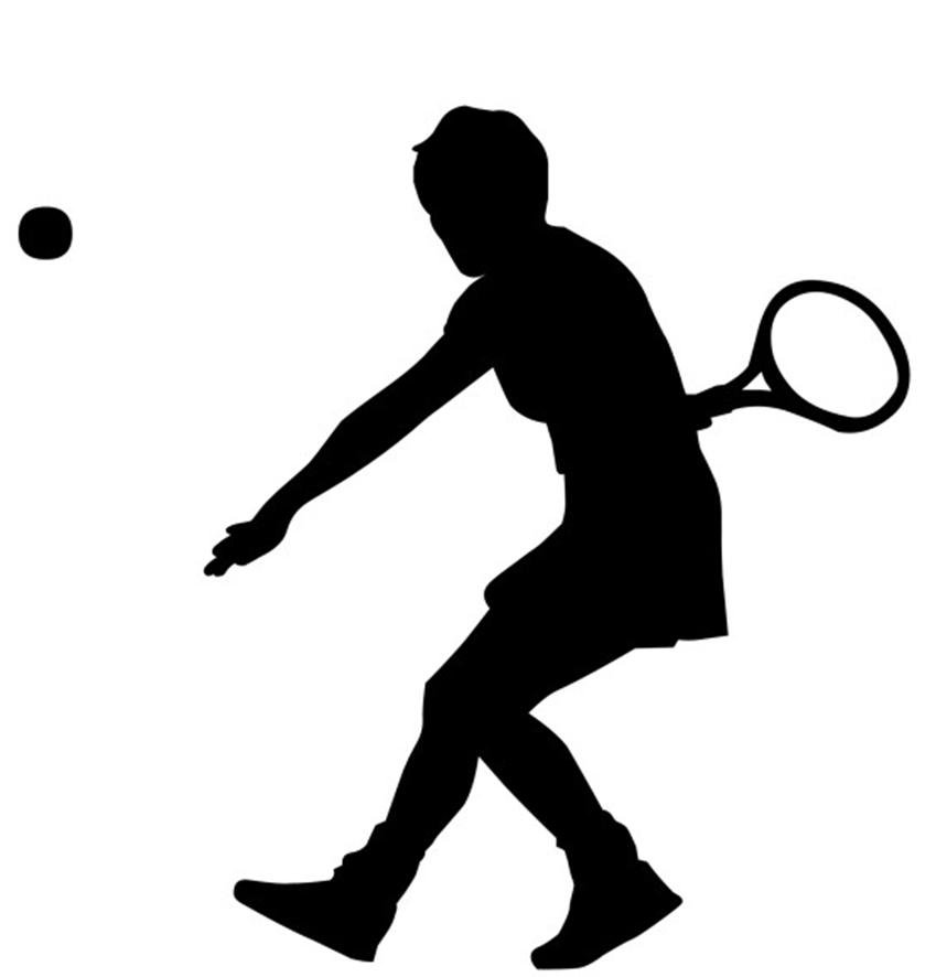 849x886 Free Tennis Clipart