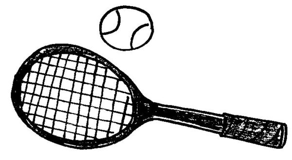 600x330 Tennis Clipart Black And White, Free Tennis Clipart Black And White
