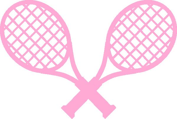 600x403 Pink Tennis Rackets Clip Art