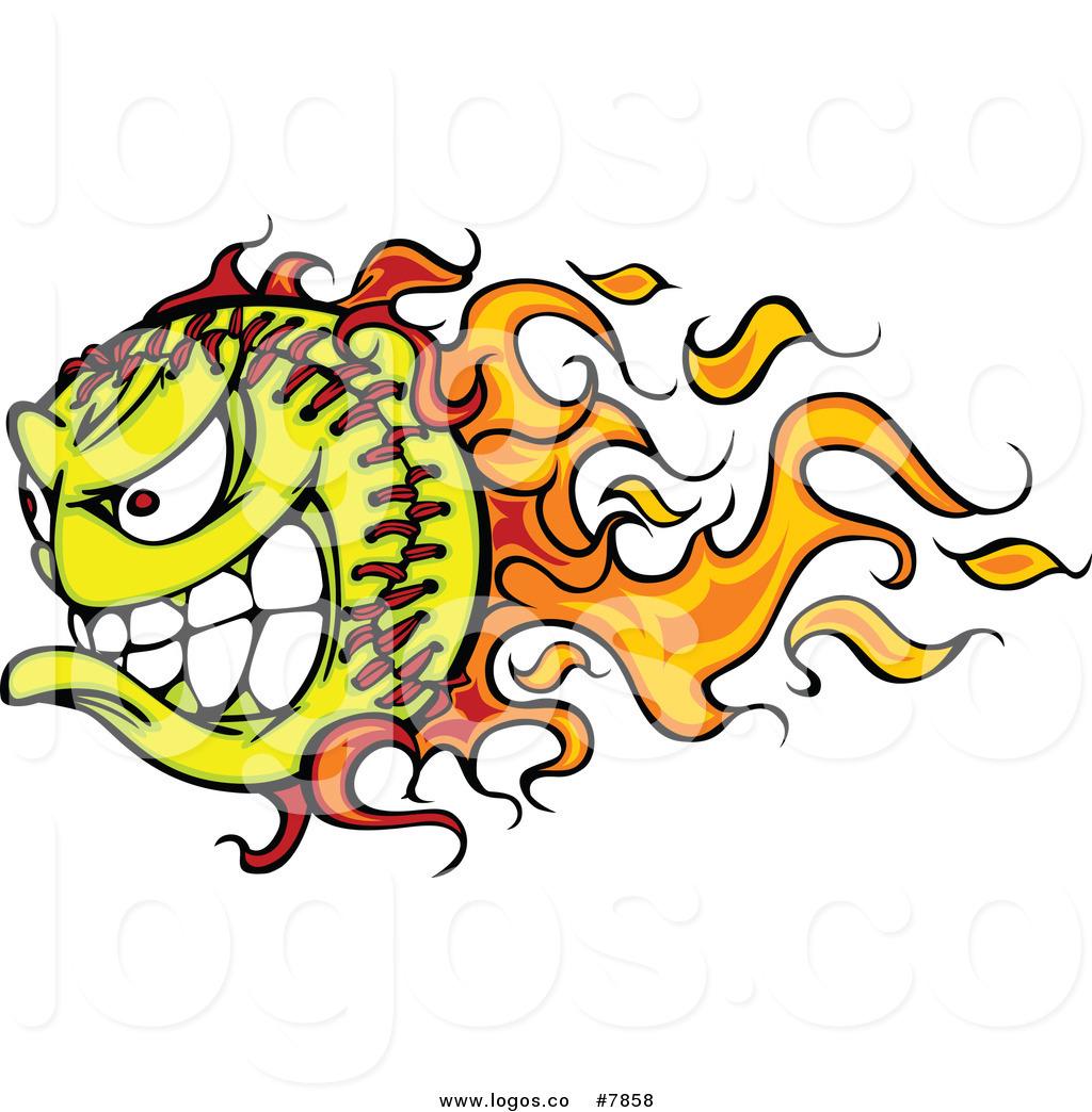1024x1044 Royalty Free Clip Art Vector Demonic Flaming Tennis Ball Logo By