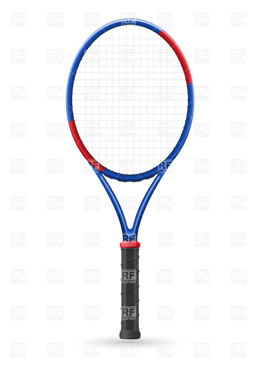 843x1200 Tennis Racket Royalty Free Vector Clip Art Image