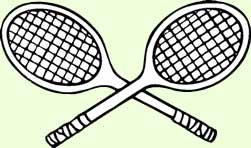 251x148 Crossed Tennis Rackets Clip Art 101 Clip Art