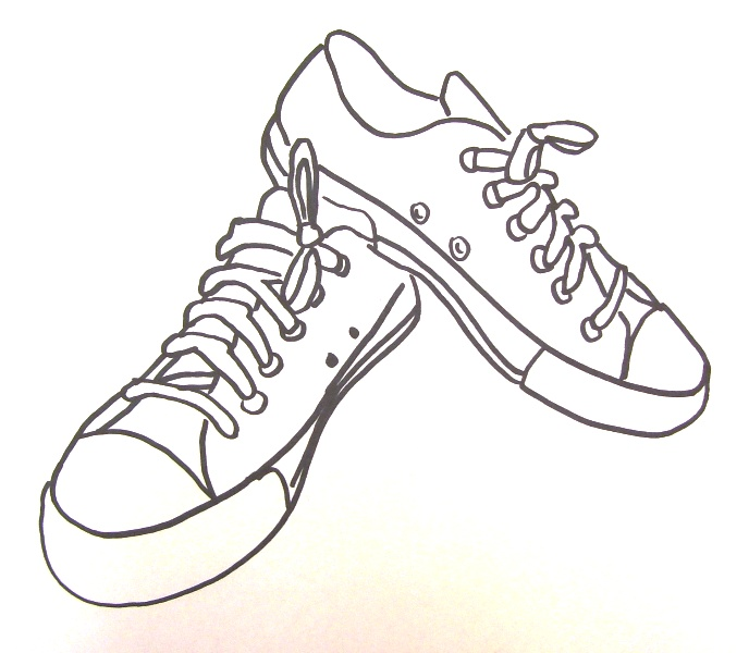 688x600 Drawn Sneakers Tennis Shoe