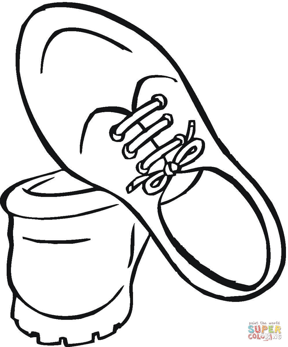 996x1200 High Top Shoe Coloring Page Free Printable Coloring Pages