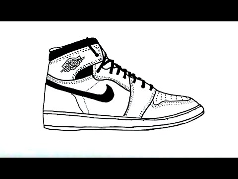 480x360 How To Draw A Hi Top Tennis Shoe Sneaker Easy Drawing Lesson