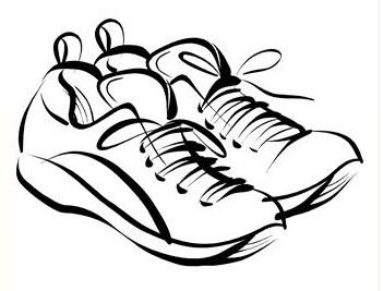 351x267 Running Shoes Drawing Clipart Panda