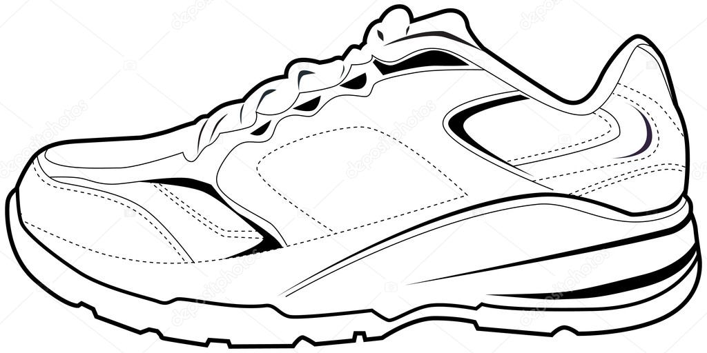 1024x512 Running Shoes Stock Vectors, Royalty Free Running Shoes