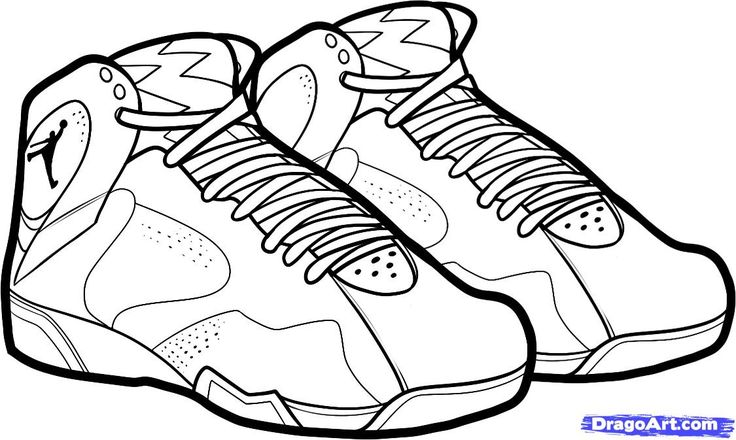 736x440 Sneaker Line Drawing Aj1 Art Coloring Books