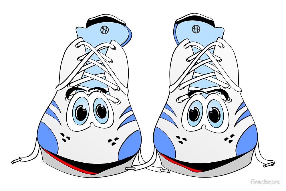 1000x667 Tennis Shoe Cartoon By Graphxpro Redbubble