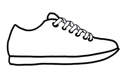484x309 Tennis Shoes Clipart