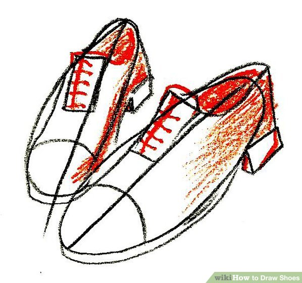 598x560 4 Ways To Draw Shoes
