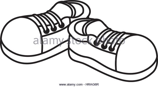 640x352 Tennis Shoes Stock Vector Images