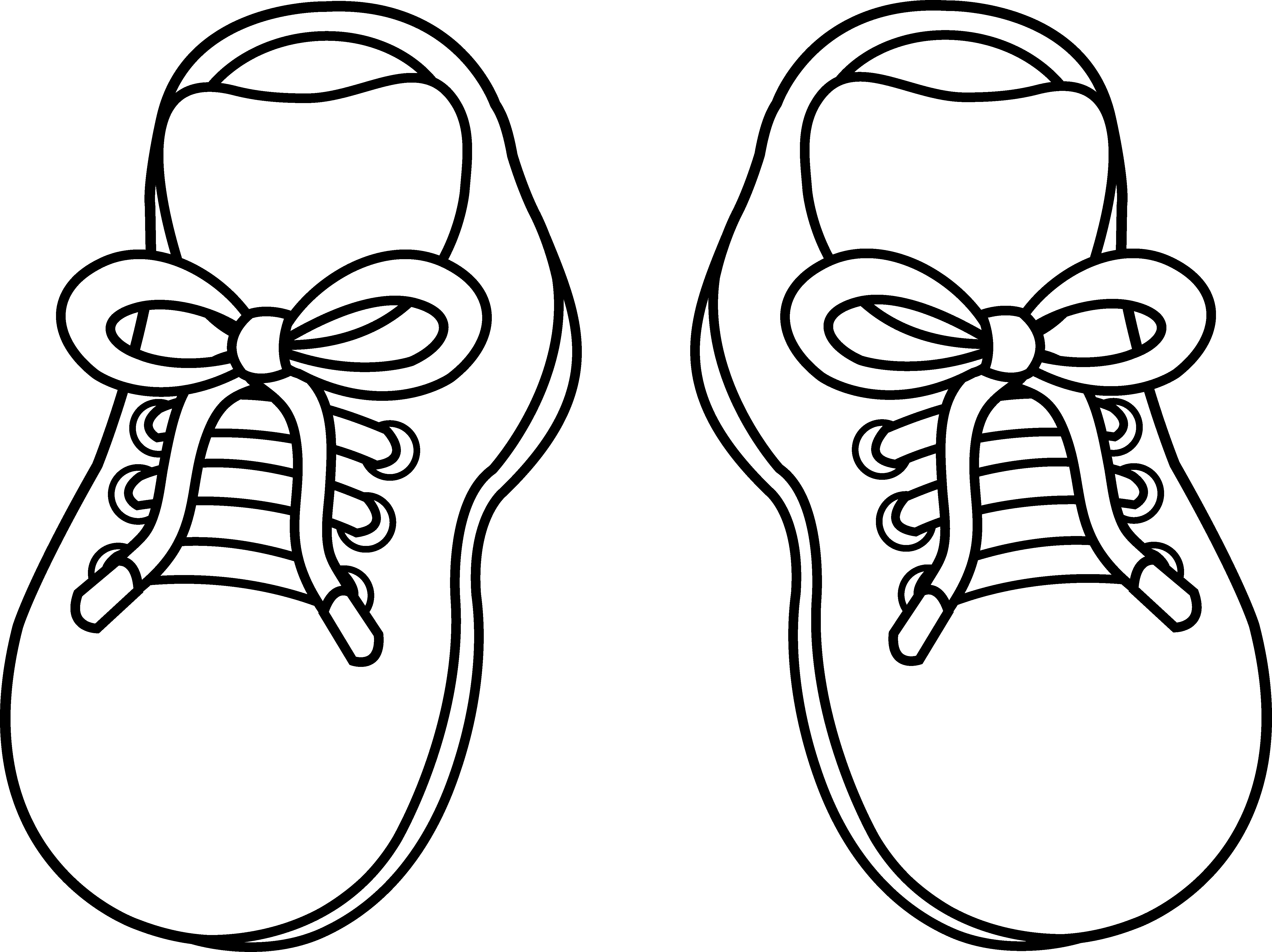 5540x4147 Tennis Shoe Pair Of Childrens Shoes Free Clip Art