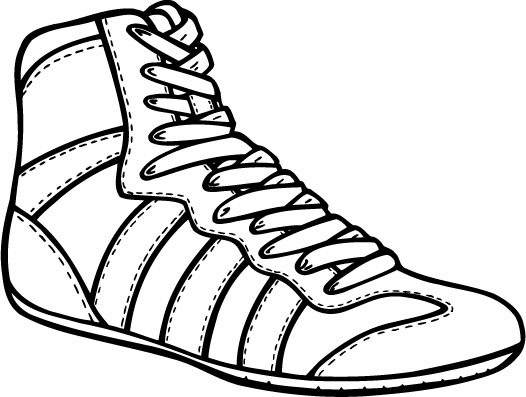 526x397 Wrestling Shoes Clipart