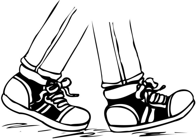 800x568 Free Clipart Walking Shoes