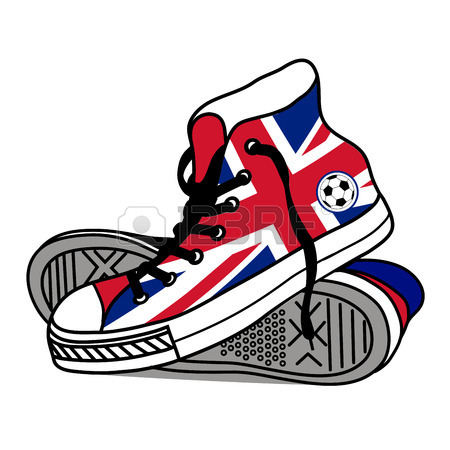 450x450 Drawing Old Athletic Shoes Royalty Free Cliparts, Vectors,