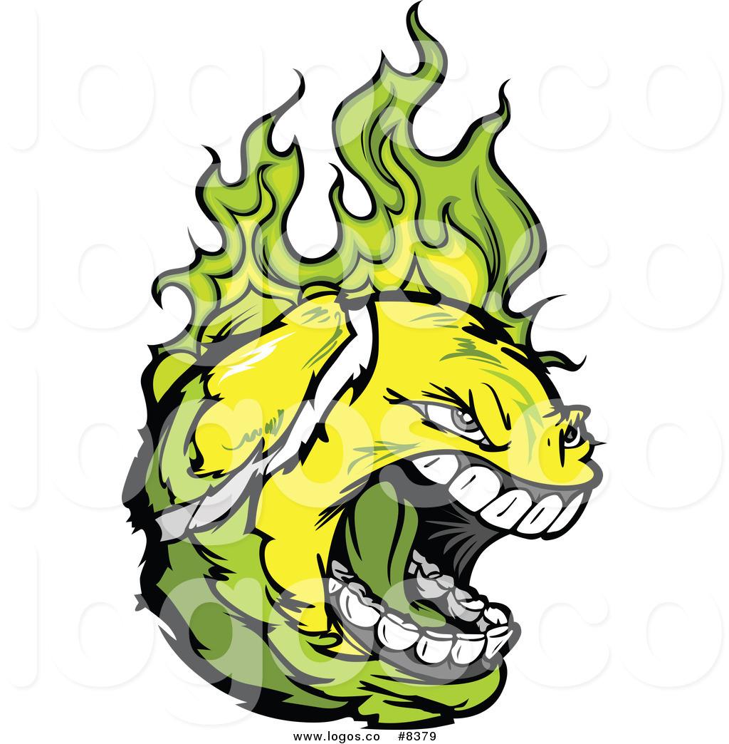 1024x1044 Royalty Free Clip Art Vector Logo Of A Screaming Tennis Ball