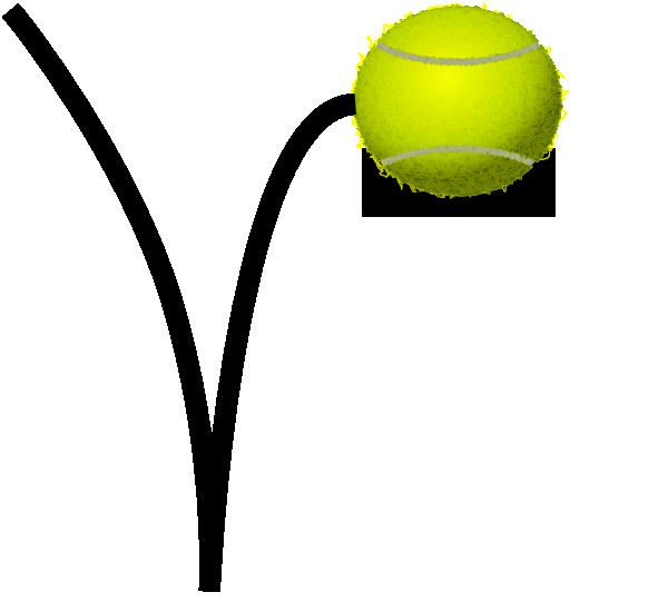 600x541 Tennis Ball Bounce Clip Art